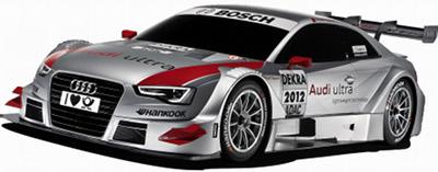 Présentation de l'Audi A5 DTM de 2012..