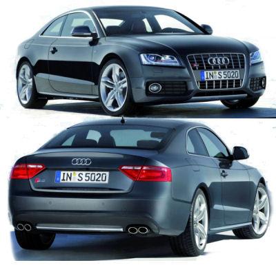 Présentation de la version sportive de l'Audi A5: l'Audi S5. Cette Audi S5 est équipée d'un V8 FSI de 354 ch..